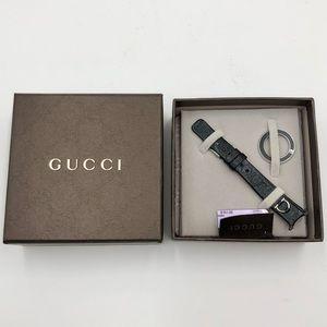 Gucci U-Play Leather Watch Strap & Matching Bezel